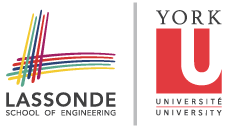 Logo for the Lassonde School of Engineering and York University
