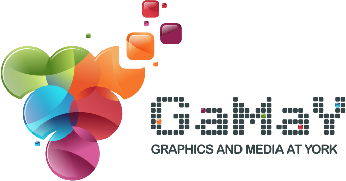 Logo for the GaMaY lab (Graphics and Media at York)